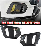 For Ford Focus Rs 2016-2018 Carbon Fibre Abs Front Fog Lamp Light Frame Replace