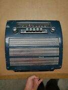1951 1952 Plymouth Radio Complete Grill Nice Push Button Lights Up Not Tested