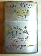 1970 - Zippo Lighter - Qui Nhon - Us Navy - Lst 1167 - 1971 - Vietnam War 0954