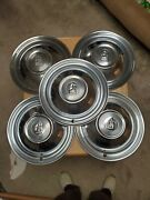 Plymouth Hubcap 1950 1949 1951 15 Set Of 5 Total Original Chrome Wheel Cover