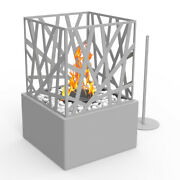 Small Modern Tabletop Heater Patio Deck Gas Fireplace Fire Pit Bowl Outdoor