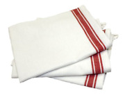 Aunt Marthaand039s 18-inch By 28-inch Package Of 3 Vintage Dish Towels Red Striped