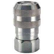Parker Fs-751-12fp-e5 Hydraulic Quick Connect Hose Coupling, 316 Stainless