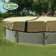 Ultimate 3000 - Above Ground Pool Winter Cover - 24 Ft Round - In The Swim