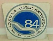 Vintage And Rare 1984 New Orleans Worldand039s Fair Large Metal Sign Old Used Condition