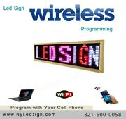 Led Sign -new- Programmable - Tri Colors Rwpandnbsp - 15and039and039andnbsp X 40and039and039andnbsp Wirelessandnbsp