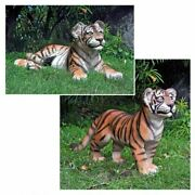 Katlot The Grand-scale Tiger Cub Statues Standing Cub And Lying Down Cub