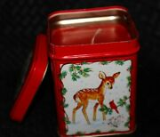 Unused Vintage Wicks And039n Tins Holiday Scented Candle In Decorative Tin By Jasco