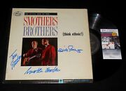 Smothers Brothers Tom And Dick Autographed Record Album Think Ethnic - Jsa Coa