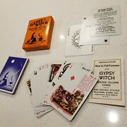 Vintage Halloween Gypsy Witch Fortune Telling Cards Game Complete