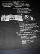 Ivy H. 1973 Promo Poster Ad Cat Stevens Neil Young Carole King Don Mclean Zephyr