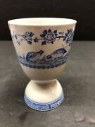 Vintage Antique Furnivals Quail Blue Egg Cup Blue And White China C
