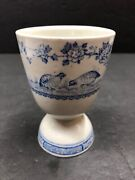 Vintage Antique Furnivals Quail Blue Egg Cup Blue And White China D