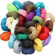 328 Yards 30 Colors 1mm Waxed Polyester Twine Cord Macrame Bracelet Thread For