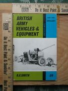British Army Vehicles And Equipment Part Two Artillery - R. E. Smith