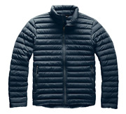 The Mens Stretch Down Jacket Slim Fit Urban Navy Blue Size Small