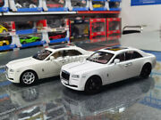 New Kyosho 1/18 Rolls Royce Rr Ghost Diecast Model Car Gifts Collection White