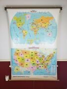 2006 Political World United States Pull Down School Map 1 Layer 2 Maps Excellent