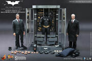 Batman Armory With Bruce Wayne And Alfred 1/6 Figure By Hot Toys Dark Night New