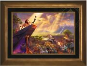 Thomas Kinkade The Lion King 18x27 Gallery Proof Framed Limited Canvas Disney.