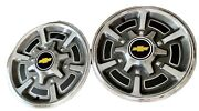 Pair Of Chevy K10 4x4 Truck 15 Hubcaps K10 Wheel Cover 1/2 Ton 77-83