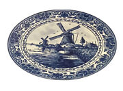 Lot Delft Ceramic Blue Windmill 7andrdquo Plate Bottle Candle Doll House Tea Cup Mug