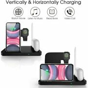 4in1 Fast Charger Qi Wireless Charging Station For Apple Watch Iphone 12 11 Xr 8