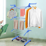 Foldable Clothes Drying Rack Poratbel Laundry Shoes Hanger Dryer Indoor Outdoor