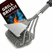 Grill Brush - Safe/clean Bristle-free Grill Bbq Stainless Steel Rust Resistant