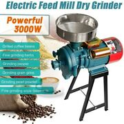 3000w 110v Electric Grain Mill Grinder Feed/flour Dry Cereals Rice Coffee Wheat