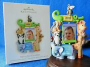 Challmark Ornament 2009 Baby's First 1st Christmas Photo Frame Zoo Animals