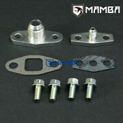 Garrett T3 T4 Turbo Oil Feed 4an No Restrict And Return 10an Flange Adapter Kit