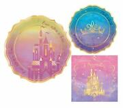Once Upon A Time Disney Princess Themed Party Supplies Bundle Include Paper Pl