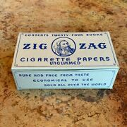 Rare Vintage Wwii / 1940and039s Zig-zag Rolling Papers- 1 Box Containing 24 Books