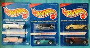 1996 Hot Wheels Avon Exclsv Father And Son Set Lot 3 Nip Mustang Corvette Mercedes