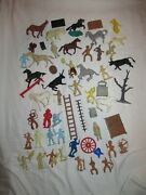 Lot Of Vintage Marx Play Cowboys And Indians And More