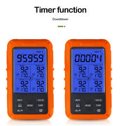 Wireless Remote Lcd Digital Food Thermometer Home Kitchen Meat Bbq Oven Smoker