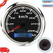 85mm Gps 200km/h Pointer Speedometer With Red Backlight For Car Boat Motorcycle