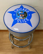 Chicago Police Star Bar Stool Counter Stools