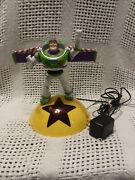 Disney Buzz Lightyear Alarm Clock Radio With Lights Projection Phrases Tested
