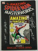Amazing Spider-man Masterworks Tpb 1 Vf - Signed By Stan Lee And John Romita 1st