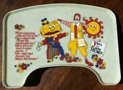 1970s Mcdonald's Fast Food Restaurant Vote For Mayor Mccheese High Chair Tray