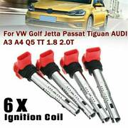 Set Of 6 Ignition Coil Pack For Audi A4 A5 R8 Tt Q7 Vw Golf Gti 2.0t 06e905115e