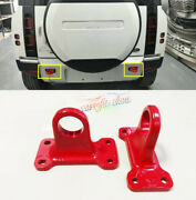 For Land Rover Defender 2020 2021 Cast Iron Trailer Hitch Tow Hook Rescue 2pcs