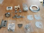 Lot Of 14 Assorted Marine Boat Hardware Chrome Pieces Mixed