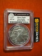 2011 W Burnished Silver Eagle Pcgs Ms70 First Strike From 25th Anniversary Set