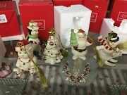 Lenox Christmas Ornaments Lot Of 5 New In Boxes See Photos