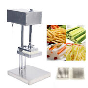 Stainless Steel Auto French Fry Cutter Potato Vegetable Slicer 25w 3 Blade-molds