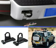 2pcs Cast Iron Trailer Hitch Tow Hook Rescue For Land Rover Defender 2020 2021
