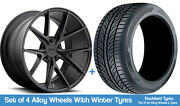 Niche Winter Alloy Wheels And Snow Tyres 19 For Volvo V60 Cross Country 15-18